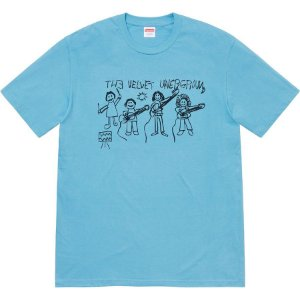 "SUPREME - Camiseta Velvet Underground Drawing ""Blue"""