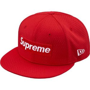 "SUPREME - Boné Mesh Logo New Era ""Red"""