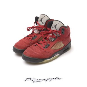 "NIKE - Air Jordan 5 Retro DMP ""Raging Bull Red Suede"" -USADO-"