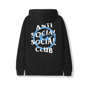 "ANTI SOCIAL SOCIAL CLUB - Moletom Fragment Bolt ""Black/Blue"""