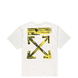 "OFF-WHITE - Camiseta Acrylic Arrows Over ""Branco"" -NOVO-"