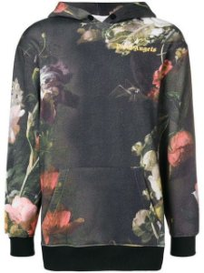 "PALM ANGELS - Moletom Floral Print ""Black"""