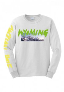 "KANYE WEST - Camiseta Manga Longa Wyoming ""White"""