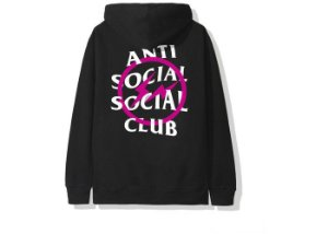 "ANTI SOCIAL SOCIAL CLUB - Moletom Fragment Bolt ""Black/Pink"""