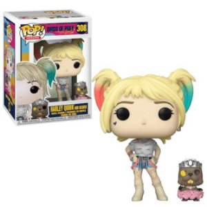 FUNKO POP! - Boneco Birds of Prey: Harley Quinn and Beaver #308