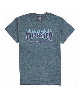 "THRASHER - Camiseta Flame Logo ""Dark Heather"""