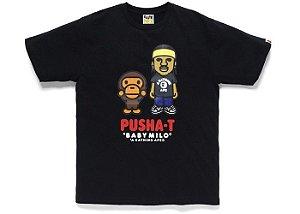 "Bape x Pusha T - Camiseta Baby Milo ""Black"""