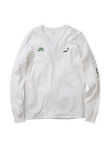 """NIKE x STAPLE - Camiseta Manga longa SB Panda Pigeon """"White"""""""