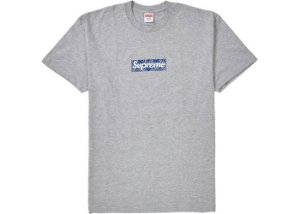 "SUPREME - Camiseta Box Logo Bandana ""Grey"""