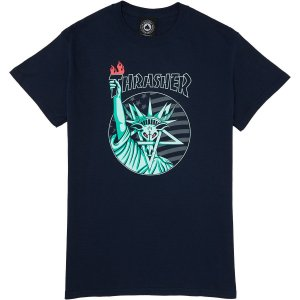 """THRASHER - Camiseta Liberty Goat """"Navy"""""""