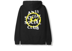 "ANTI SOCIAL SOCIAL CLUB - Moletom Fragment Bolt ""Black/Yellow"""