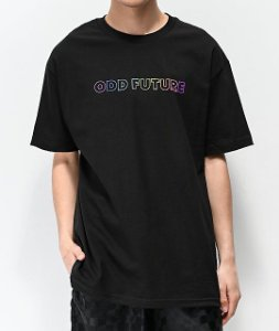 "ODD FUTURE - Camiseta Rainbow ""Black"""