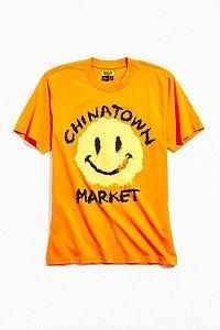 "CHINATOWN MARKET x SMILEY - Camiseta Smudge ""Orange"""