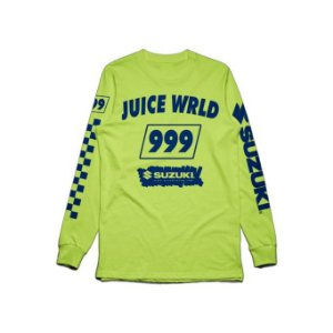 "JUICE WRLD X SUZUKI - Camiseta Manga Longa Death Race For Love ""Green"""
