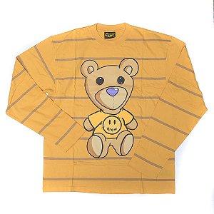 "DREW HOUSE - Camiseta Manga Longa Tuesday Yarn Die Stripe ""Yellow"""