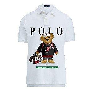 """POLO RALPH LAUREN - Camisa Polo Bear 1992 """"Branco"""" -NOVO-"""