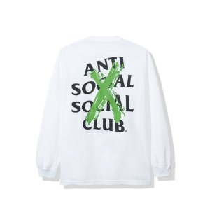 "ANTI SOCIAL SOCIAL CLUB - Camiseta Manga Longa Cancelled ""Branco"" -NOVO-"