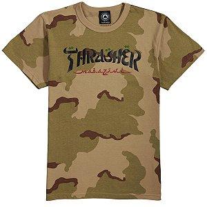 "THRASHER X ROTHCO - Camiseta Calligraphy ""Desert Camo"""