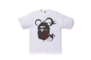 "BAPE x DOVER STREET MARKET- Camiseta Year Of The Mouse ""Branco"" -NOVO-"
