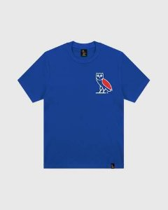 "OVO - Camiseta White/Red Owl Logo ""Blue"""
