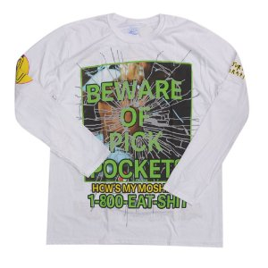 A$AP ROCKY - Camiseta Manga Longa Injured Generation Merch ''White''
