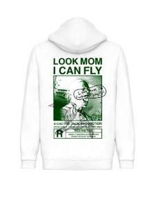 "TRAVIS SCOTT - Moletom Look Mom I Can Fly ""White"""