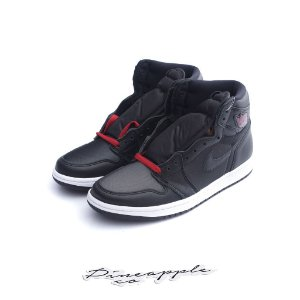 "NIKE - Air Jordan 1 Retro ""Black Satin/Gym Red"" -NOVO-"