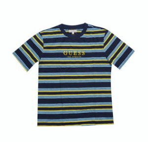 "GUESS - Camiseta Dylan Striped ""Yellow/Blue"""