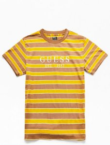 """GUESS - Camiseta Dylan Striped 1981""""Yellow/Beige"""""""