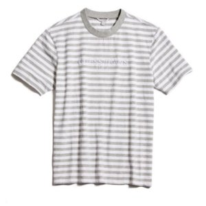 "GUESS x ASAP ROCKY - Camiseta Strip GUE$$ ""Cinza/Branco"" -NOVO-"