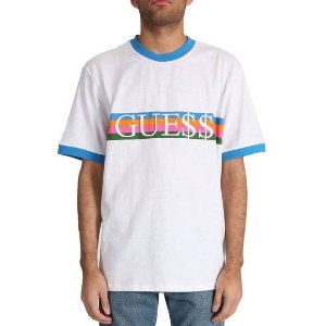 "Guess x Asap Rocky - Camiseta GUE$$ ""White/Blue"""