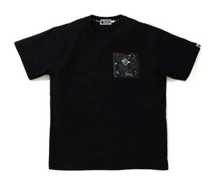 "BAPE - Camiseta Relaxed Space Camo Pocket ""Black"""