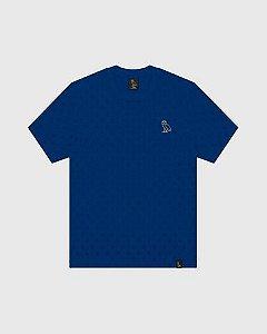 "OVO - Camiseta Logo Monogram ""Azul Royal"" -NOVO-"