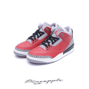 "Nike Air Jordan 3 Retro ""Fire Red Cement"" (Nike Chi) -NOVO-"