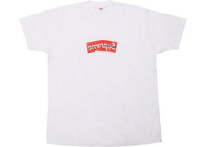"SUPREME x COMME DES GARÇONS - Camiseta Box Logo ""Branco"" -NOVO-"