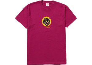 "SUPREME - Camiseta Black Cat ""Magenta"""