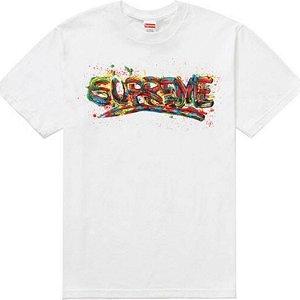 "SUPREME - Camiseta Paint Logo ""White"""