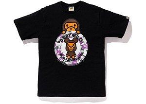 "BAPE x MEDICOM - Camiseta NYC Baby Milo Bearbrick Busy ""Black"""