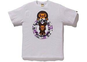 "BAPE x MEDICOM - Camiseta NYC Baby Milo Bearbrick Busy ""White"""