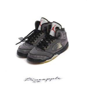 "Nike Air Jordan 5 Retro x Off-White ""Black"" -NOVO- (PS)"