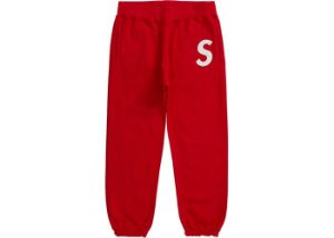 "SUPREME - Calça de Moletom S Logo Sweatpant ""Red"""