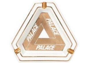 "PALACE - Cinzeiro Tri-Ferg Ceramic Ashtray ""White/Gold"""