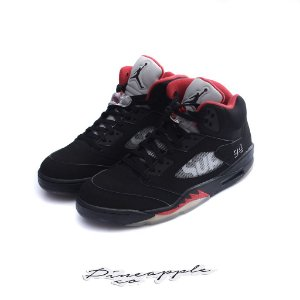 "Nike Air Jordan 5 Retro x Supreme ""Black"" -NOVO-"