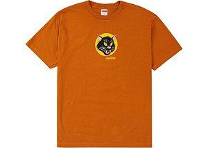 """SUPREME - Camiseta Black Cat """"Laranja"""" -NOVO-"""