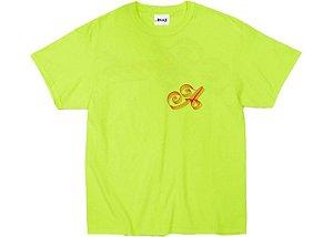 "AWAKE - Camiseta Ribbon Script Logo ""Verde Neon"" -NOVO-"