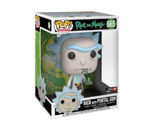 FUNKO POP! - Boneco Super Sized 10 Polegadas Rick and Morty: Rick with Portal Gun