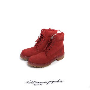"TIMBERLAND - 6-Inch Waterproof Premium Boot ""Red"" -NOVO-"