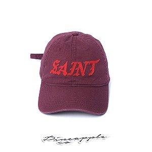 "KANYE WEST - Boné Logo Saint ""Burgundy"" -USADO-"