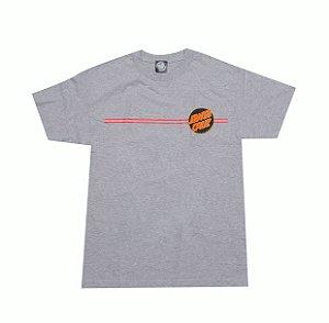 "SANTA CRUZ - Camiseta Classic Dot ""Cinza"" -NOVO-"