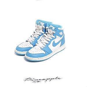 """Nike Air Jordan 1 Retro """"UNC"""" (Infantil) -USADO-"""